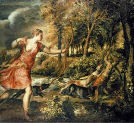 Eileen Cooper's favourite painting, The Death of Actaeon by Titian.