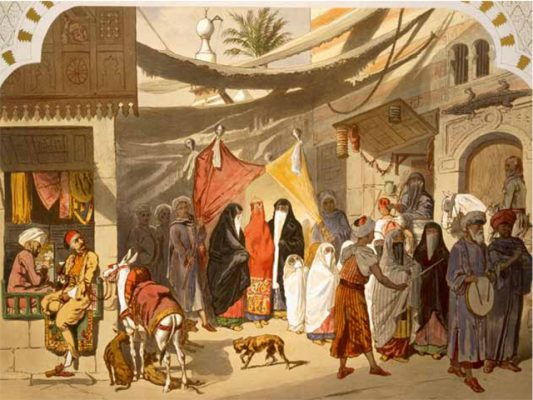 Frank Gardner's favourite painting, The Marriage of an Arab in Cairo by Henri de Montaut.