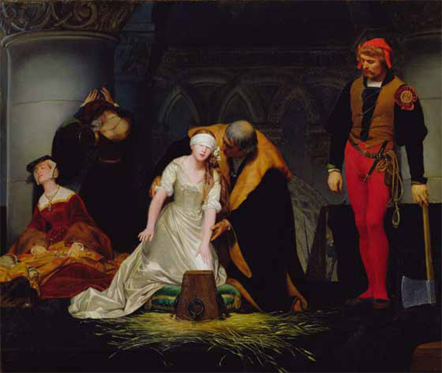 Giles Deacon's favourite painting, The Execution of Lady Jane Grey by Paul Delaroche.