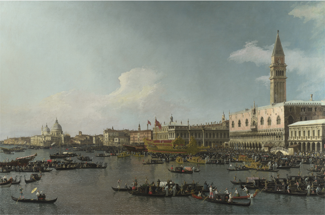 Harry Cotterell's favourite painting, The Basin of San Marco on Ascension Day by Canaletto.