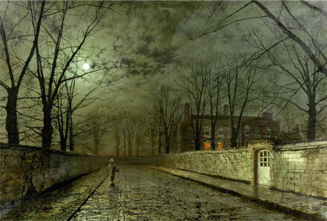 Dame Hilary Mantel's favourite painting, Silver Moonlight by John Atkinson Grimshaw.