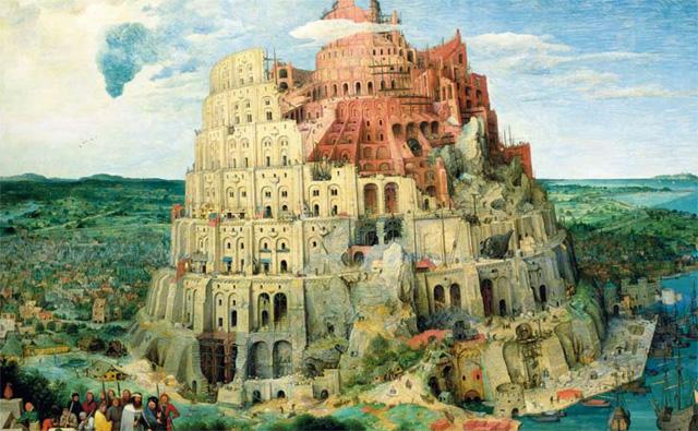 Honeysuckle Weeks' favourite painting, The Tower of Babel by Pieter Bruegel the Elder.