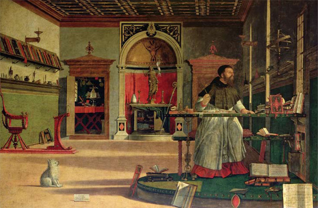 Jan Morris' favourite painting, The Vision of St Augustine by Vittore Carpaccio.