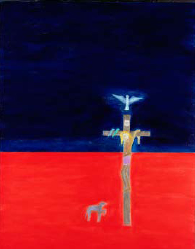 Jeanette Winterson's favourite painting, Crucifixion by Craigie Aitchison.