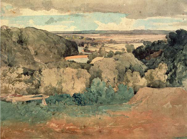 Jilly Cooper's favourite painting, Barnard Castle from Towler Hill by John Sell Cotman.