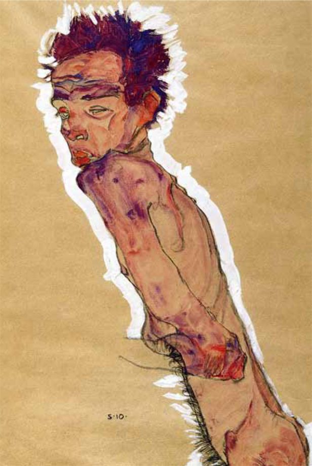 John Taylor's favourtie painting, Nude Self Portrait by Egon Schiele.