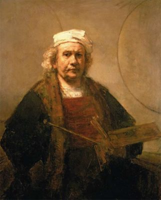 Lucinda Bredin's favourite painting, Self-Portrait with Two Circles by Rembrandt van Ryn.