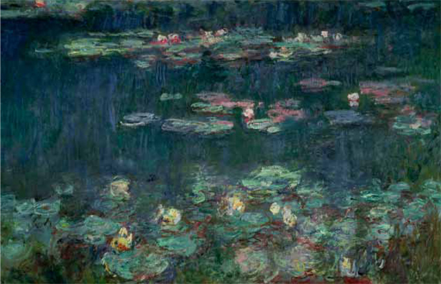 Lulu's favourite painting, Water Lilies (Nymphéas) by Claude Monet.