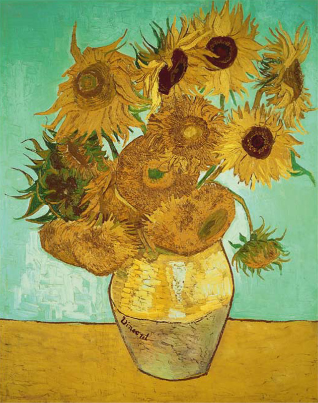 Meera Syal's favourite painting, Vase with 12 Sunflowers by Vincent van Gogh.