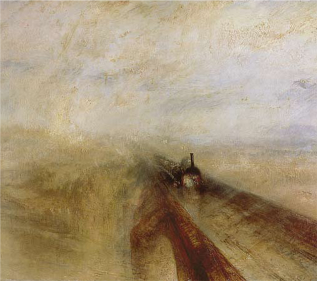 Michael Palin's favourite painting, Rain, Steam, and Speed—the Great Western Railway by J. M. W. Turner.