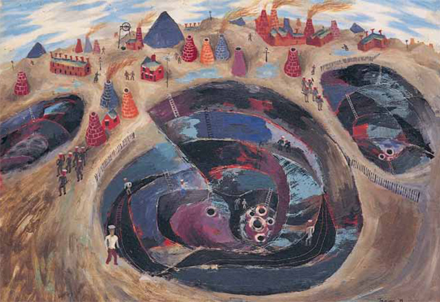 Philip Trevelyan's favourite painting, Potteries (Clay Pits) by Julian Trevelyan.