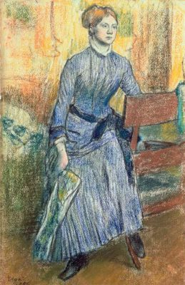 Quentin Blake's favourite painting, Hélène Rouart in her Father's Study by Edgar Degas.