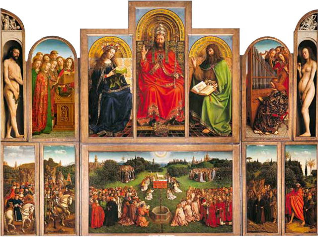Rupert Sheldrake's favourite painting, The Adoration of the Lamb by Jan van Eyck.