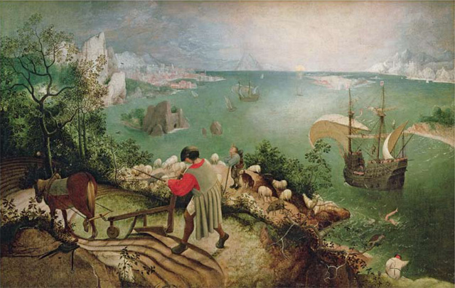 Simon Russell Beale's favourite painting, Landscape with the Fall of Icarus by Pieter Breugel the Elder.