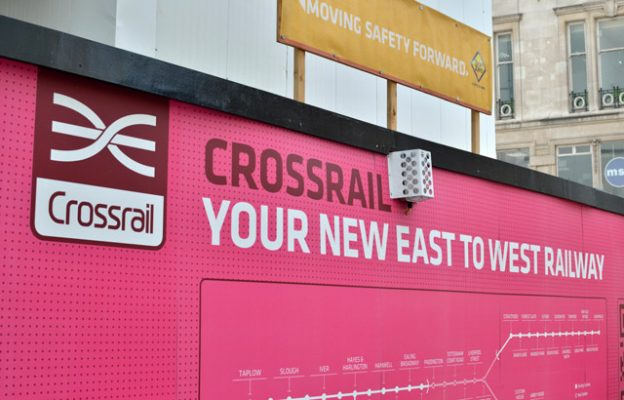 Crossrail construction site hoarding.