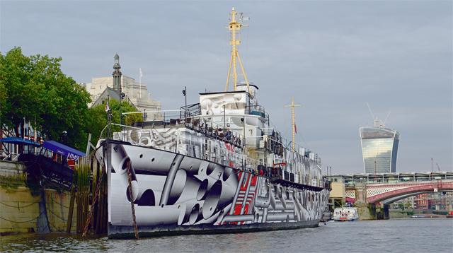 HMS president camouflaged