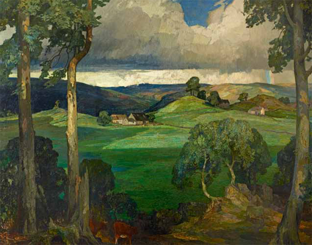 The Prince of Wales' favourite painting, Storiths in Wharfedale on The Bolton Abbey Estate by Reginald 'Rex' Vicat Cole.
