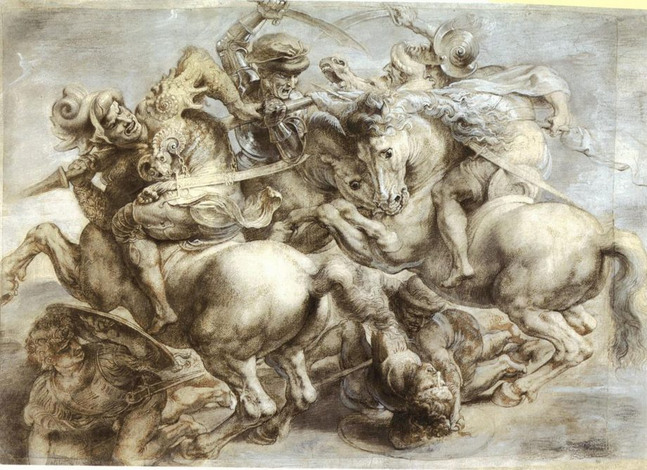 Peter Paul Ruben's copy of the lost Battle of Anghiari by Leonardo da Vinci.