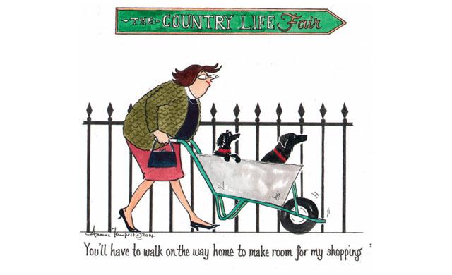 Country Life Fair Tottering cartoon