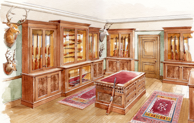 Glorious gun rooms country life for Gun room design ideas for houses