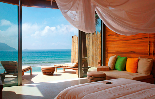 Amazing places to stay six senses con dao country life for Tropical hotel decor