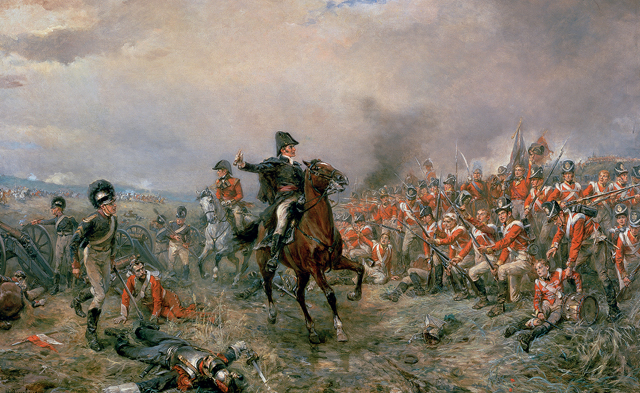 The Duke of Wellington at Waterloo (oil on canvas)