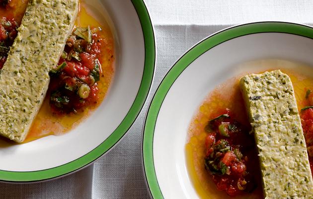 courgette terrine with tomato vinaigrette