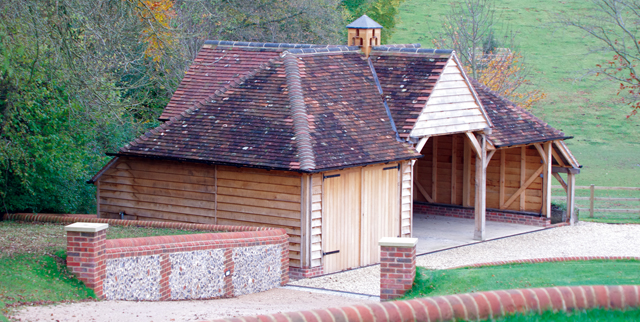 This Three Bay Oak Garage Has One Set Of Garage Doors, An Open Log Store  And A Pretty Oak Dovecote. Cost This Garage Cost £32,000 Plus VAT (not  Including ...