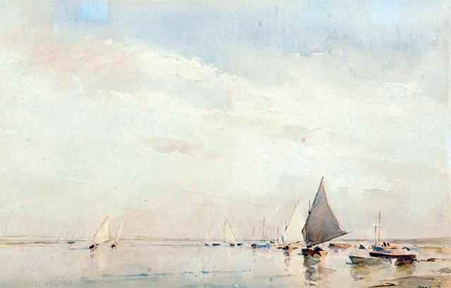 Sailing off Blakekey Point