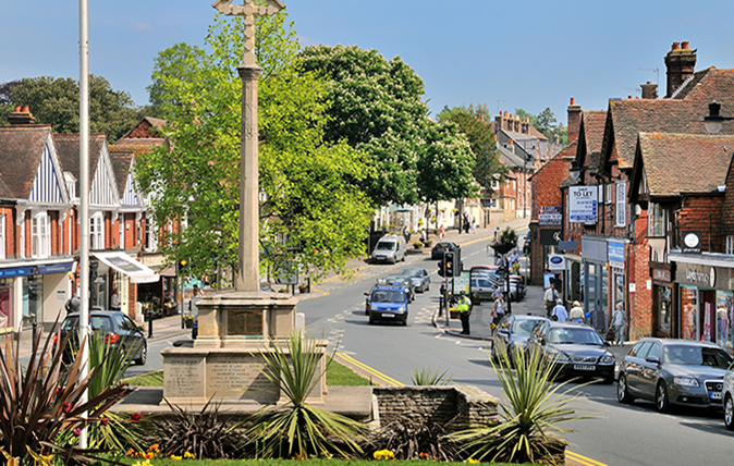 Haslemere town centre. Image shot 05/2010. Exact date unknown.