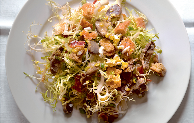 salad of poultry gizzards