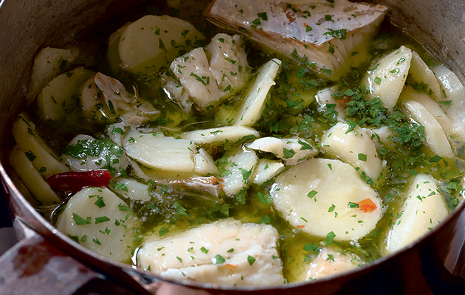 Italian salt-cod stew with potatoes