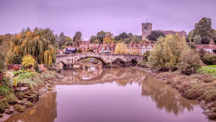 The pretty and idyllic Aylesford village in Kent