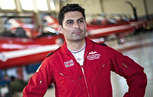 David Montenegro, the leader of the Red Arrows