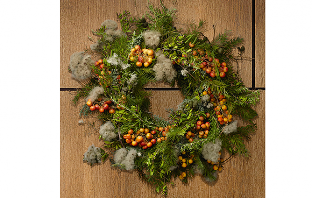 nine simple steps to making your own christmas wreath