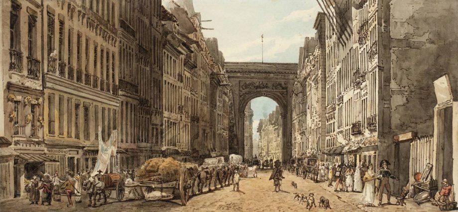Thomas Girtin's La Rue St Denis, 1802.