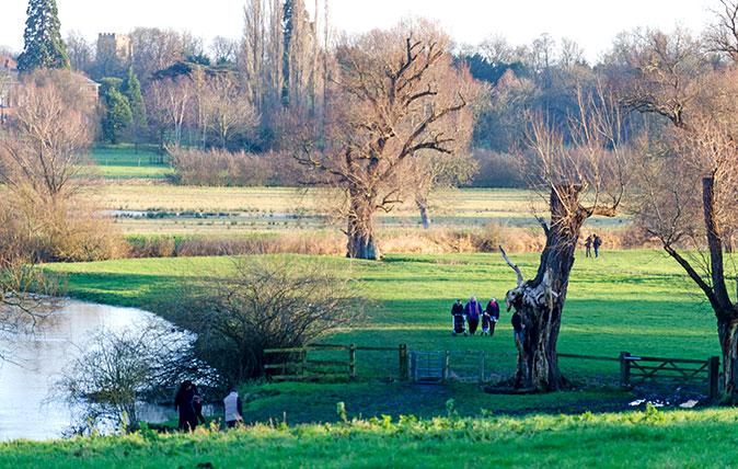 Walking in Grantchester Meadows, Cambridge