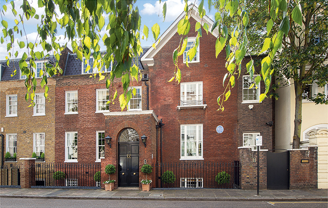 The former London home of Sir Winston Churchill