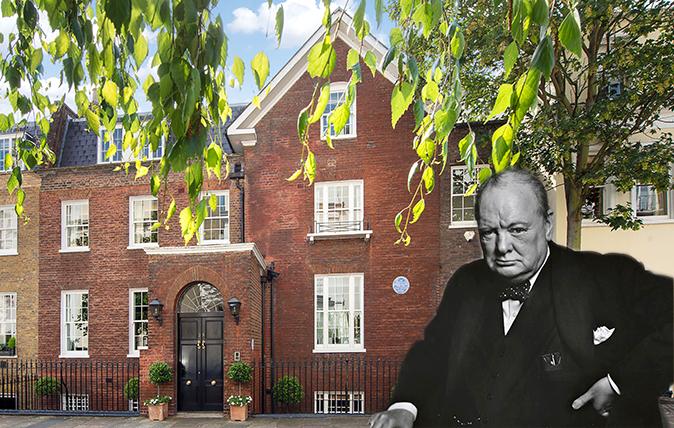 Sir Winston Churchill's former London home