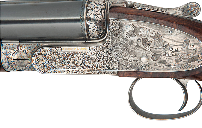 Purdey's 12-bore large-scroll single-trigger sidelock ejector, as sold by Christie's for £74,500