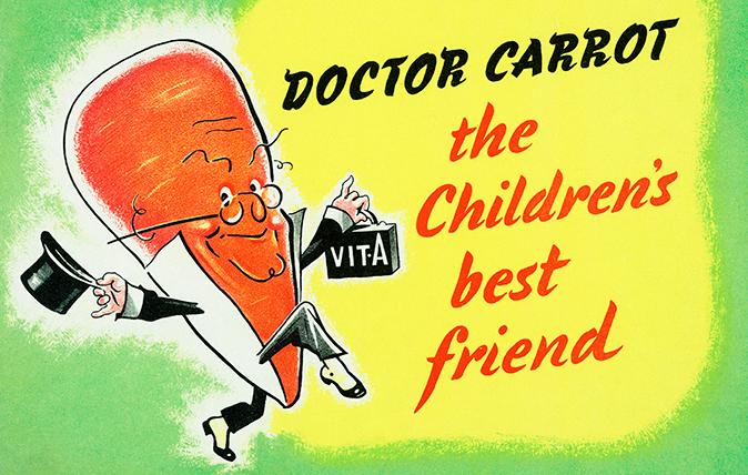 Wartime carrot poster - ©IWM (PST 8105)