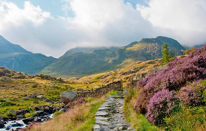 Snowdonia's famous Watkin Path