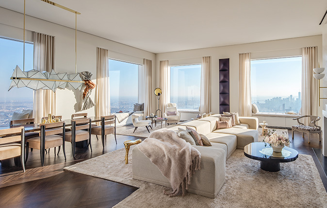 The 92nd-floor penthouse at 432 Park Avenue, New York, NY