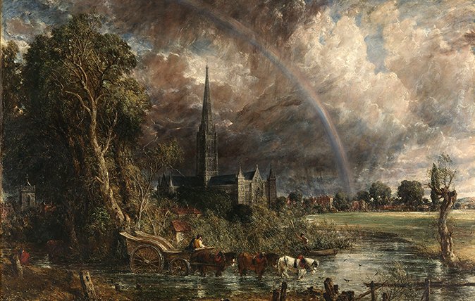 The Tate's Salisbury Cathedral from the Meadows, first exhibited 1831 by John Constable