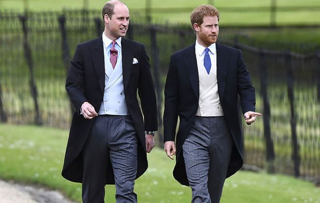 Prince Harry and Prince William Arrive at the Royal Wedding in Uniform