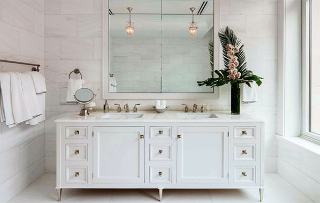 Double vanity washstand by Christopher Peacock