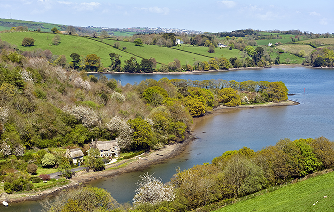 A gorgeous waterside lodge in one of Devon's most delightful villages