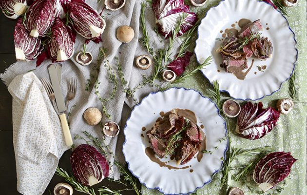 Fillet of beef with roasted radicchio