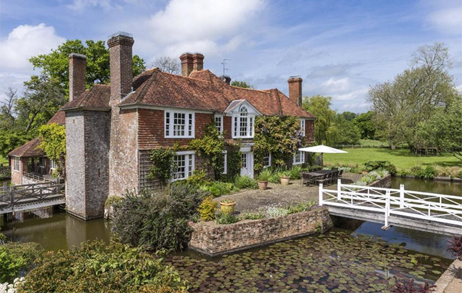 A 16th Century Home With A Moat Dug By Hand By A Former Resident
