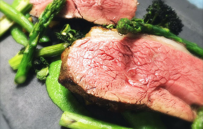 Lamb Rump with Asparagus and Broccoli from Nick Deverell Smith at The Churchill Arms